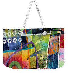 Weekender Tote Bag featuring the painting Fresh Jazz by Hailey E Herrera