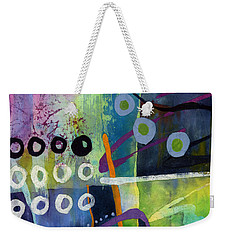 Weekender Tote Bag featuring the painting Fresh Jazz In A Square 2 by Hailey E Herrera