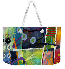 Weekender Tote Bag featuring the painting Fresh Jazz In A Square by Hailey E Herrera