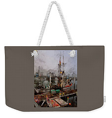 Weekender Tote Bag featuring the photograph Fresh Live Crab by Thom Zehrfeld