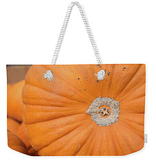 Weekender Tote Bag featuring the photograph Fresh Organic Orange Giant Pumking Harvesting From Farm At Farme by Jingjits Photography