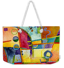 Weekender Tote Bag featuring the painting Fresh Paint by Hailey E Herrera