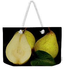 Fresh Pears Fruit Weekender Tote Bag by David French