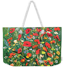 Fresh Poppies From The Garden Weekender Tote Bag