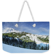 Weekender Tote Bag featuring the photograph Fresh Snow At Mount Rainier by Dan Mihai