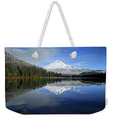 Fresh Snow On Mount Hood Weekender Tote Bag
