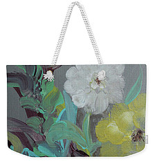 Weekender Tote Bag featuring the painting Fresh Start  by Robin Maria Pedrero