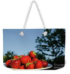 Weekender Tote Bag featuring the photograph Fresh Strawberriesl by Kennerth and Birgitta Kullman