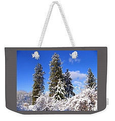 Weekender Tote Bag featuring the photograph Fresh Winter Solitude by Will Borden