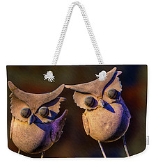 Weekender Tote Bag featuring the photograph Frick And Frack by Paul Wear
