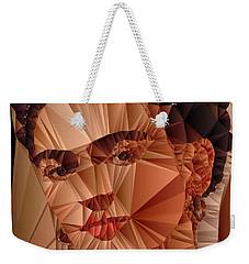 Weekender Tote Bag featuring the digital art Frida Kahlo by Rafael Salazar