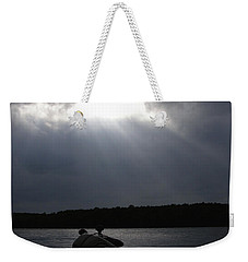Weekender Tote Bag featuring the photograph Friday Night Fish Fry Reservations by Angie Rea