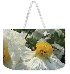 Weekender Tote Bag featuring the photograph Fried Egg Collectors by Rasma Bertz