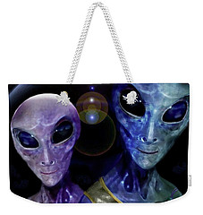 Friendly  Universe  Citizens  Weekender Tote Bag by Hartmut Jager