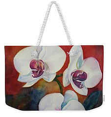 Weekender Tote Bag featuring the painting Friends by Anna Ruzsan