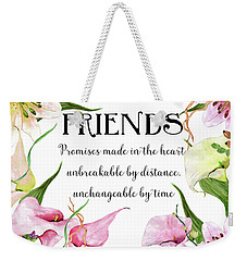 Weekender Tote Bag featuring the digital art Friends by Colleen Taylor