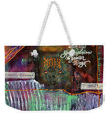 Weekender Tote Bag featuring the mixed media Friends Forever by Angela L Walker