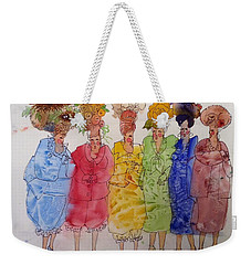 The Crazy Hat Society Weekender Tote Bag by Marilyn Jacobson