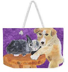 Buddies Weekender Tote Bag by Meryl Goudey
