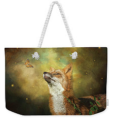Weekender Tote Bag featuring the digital art Friends On A Firefly Evening by Nicole Wilde