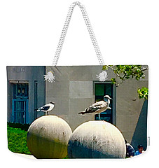 Friends On Spheres Weekender Tote Bag