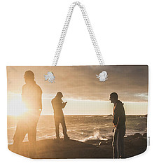Weekender Tote Bag featuring the photograph Friends On Sunset by Jorgo Photography - Wall Art Gallery