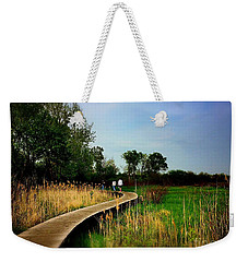 Friends Walking The Wetlands Trail Weekender Tote Bag