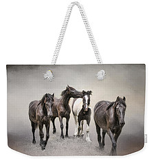 Friesian Horses The Boys And Baby Sister Weekender Tote Bag