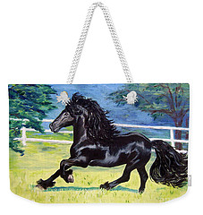 Friesian, Run Like The Wind Weekender Tote Bag