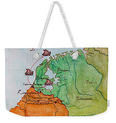 Friesland During The Time Of The Roman Empire Weekender Tote Bag by Annemeet Hasidi- van der Leij