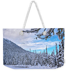 Frigid Beauty Weekender Tote Bag