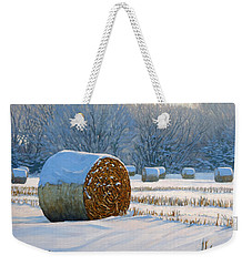 Frigid Morning Bales Weekender Tote Bag