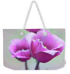 Weekender Tote Bag featuring the photograph Fringe Tulips by Jessica Jenney