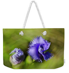 Weekender Tote Bag featuring the photograph Fringed Gentian by Ann Bridges