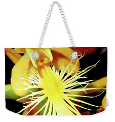 Fringed Yellow Orchid Weekender Tote Bag