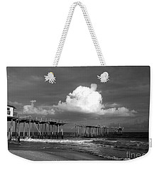 Frisco Pier 2015 B And W  Weekender Tote Bag