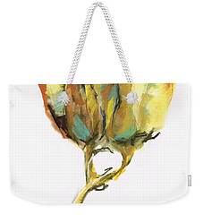 Weekender Tote Bag featuring the painting Fritillaria by Frances Marino