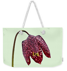 Fritillaria Meleagris - Green Background Weekender Tote Bag