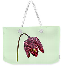 Fritillaria Meleagris Green Background Weekender Tote Bag