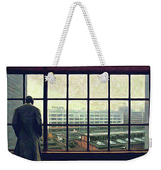 Weekender Tote Bag featuring the photograph Frits Is Overlooking His Philips Plants In Eindhoven by Nop Briex