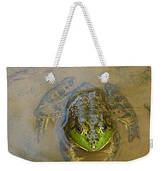 Frog Of Lake Redman Weekender Tote Bag by Donald C Morgan