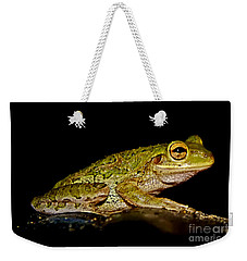 Weekender Tote Bag featuring the photograph Cuban Tree Frog by Olga Hamilton