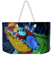 Weekender Tote Bag featuring the photograph Frog Prince by Mary Machare