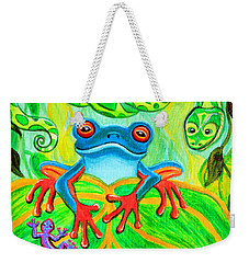 Frog Snake And Gecko In The Rainforest Weekender Tote Bag