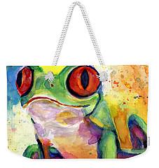 Froggy Mcfrogerson Weekender Tote Bag by Arleana Holtzmann