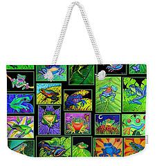 Frogs Poster Weekender Tote Bag