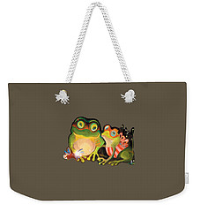 Frogs Transparent Background Weekender Tote Bag