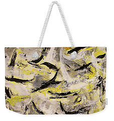 Weekender Tote Bag featuring the painting Frolic by Mary Sullivan