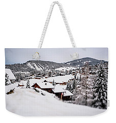 Weekender Tote Bag featuring the photograph From A Distance- by JD Mims