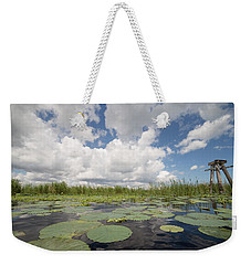 From A Frog's Point Of View - Lake Okeechobee Weekender Tote Bag by Christopher L Thomley